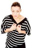 Vrouw die lunge pijn heeft Royalty-vrije Stock Afbeeldingen