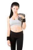 Vrouw die na Training rust Royalty-vrije Stock Foto's