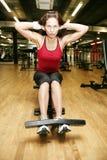 Vrouw die oefening doet Stock Fotografie