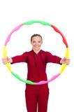 Vrouw die oefeningen doet Royalty-vrije Stock Afbeelding