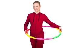 Vrouw die oefeningen doet Stock Foto