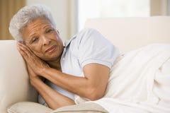 Vrouw die Onwel voelt Stock Fotografie