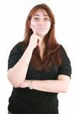 Vrouw die over een probleem denkt Stock Fotografie