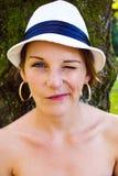 Vrouw die uitdrukking doet Royalty-vrije Stock Foto