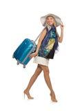 Vrouw die voor de zomervakantie voorbereidingen treffen Royalty-vrije Stock Foto's