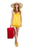 Vrouw die voor de zomervakantie voorbereidingen treffen Royalty-vrije Stock Afbeelding