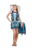 Vrouw die voor de zomervakantie voorbereidingen treffen Stock Foto