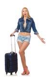 Vrouw die voor lange geïsoleerde reis voorbereidingen treffen Royalty-vrije Stock Foto