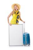 Vrouw die voor vakantie voorbereidingen treffen Royalty-vrije Stock Afbeelding