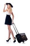 Vrouw die voor vakantie voorbereidingen treft Royalty-vrije Stock Foto