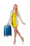 Vrouw die voor vakantie voorbereidingen treft Stock Afbeelding