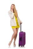 Vrouw die voor vakantie voorbereidingen treft Stock Afbeeldingen