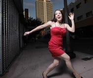 Vrouw die wegloopt Royalty-vrije Stock Foto's