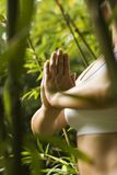 Vrouw die yoga doet. Royalty-vrije Stock Foto's