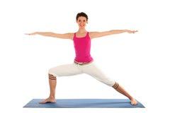 Vrouw die yoga doet Stock Fotografie