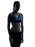 Vrouw die yogaportret uitoefent Stock Foto