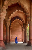 Vrouw in diwan-I-Aam Stock Afbeelding