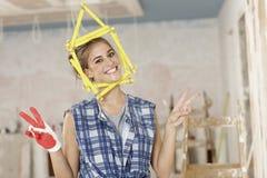 Vrouw DIY royalty-vrije stock fotografie