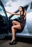 Vrouw in een auto Royalty-vrije Stock Foto