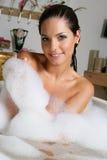 Vrouw in een bad Stock Fotografie