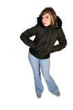 Vrouw in een de winterlaag Royalty-vrije Stock Fotografie