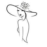 Vrouw in een hoed Royalty-vrije Stock Fotografie
