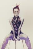 Vrouw in een Japanse stijl Royalty-vrije Stock Afbeeldingen