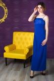 Vrouw in een kleding Royalty-vrije Stock Fotografie