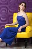 Vrouw in een kleding Royalty-vrije Stock Afbeeldingen