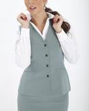 Vrouw in een uitvoerend uniform stock afbeeldingen
