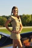 Vrouw in eenvormig leger Royalty-vrije Stock Afbeelding