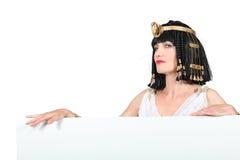 Vrouw in Egyptisch kostuum stock foto's