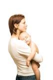 Vrouw en baby Royalty-vrije Stock Foto