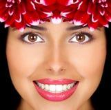 Vrouw en bloemen royalty-vrije stock fotografie