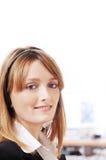 Vrouw en call centre Royalty-vrije Stock Afbeeldingen
