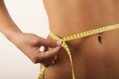 Vrouw en dieet Royalty-vrije Stock Afbeeldingen
