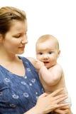 Vrouw en droevige baby Royalty-vrije Stock Afbeelding