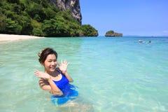 Vrouw en het Overzees van Po DA eiland Royalty-vrije Stock Afbeelding