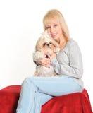 Vrouw en Hond Royalty-vrije Stock Foto's