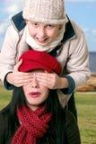 Vrouw en kind die pret hebben Royalty-vrije Stock Foto's