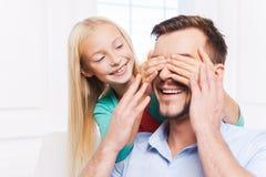 Vrouw en kind die pret hebben Stock Foto