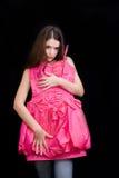 vrouw en kleding Royalty-vrije Stock Foto