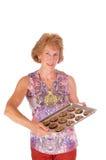 Vrouw en koekjes Stock Fotografie