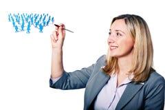 Vrouw en man Stock Foto