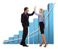Vrouw en man met 3d grafiek Royalty-vrije Stock Foto