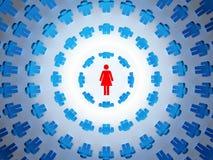 Vrouw en mannelijk team stock illustratie