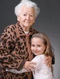 Vrouw en meisje Royalty-vrije Stock Afbeeldingen