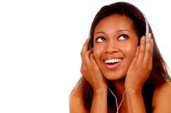 Vrouw en Muziek Royalty-vrije Stock Afbeeldingen