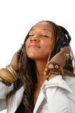 Vrouw en Muziek Stock Afbeelding