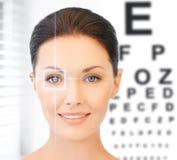 Vrouw en ooggrafiek royalty-vrije stock foto's